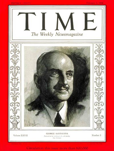 TIME Magazine Cover: George Santayana -- Feb. 3, 1936