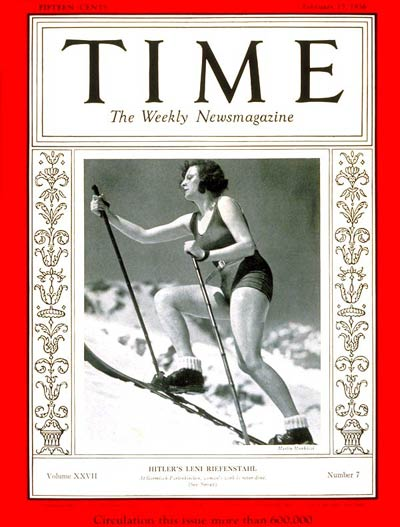 TIME Magazine Cover: Leni Riefenstahl -- Feb. 17, 1936
