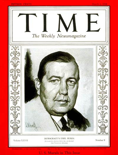 TIME Magazine Cover: Emil Hurja -- Mar. 2, 1936