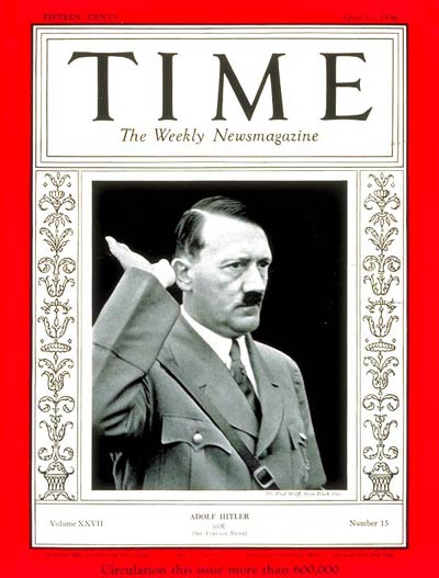TIME Magazine Cover: Adolf Hitler -- Apr. 13, 1936