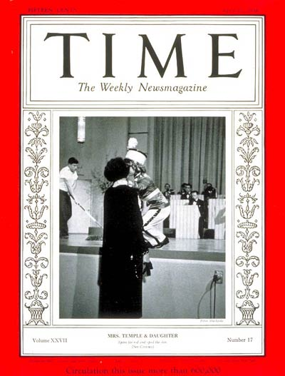 TIME Magazine Cover: Shirley Temple -- Apr. 27, 1936