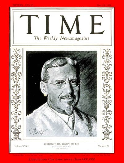 TIME Magazine Cover: Dr. Joseph DeLee -- May 25, 1936