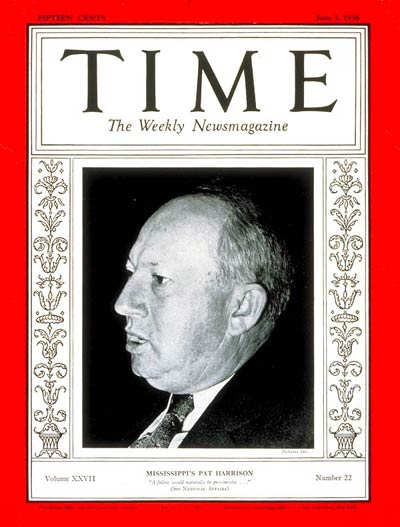 TIME Magazine Cover: Senator Patton Harrison -- June 1, 1936