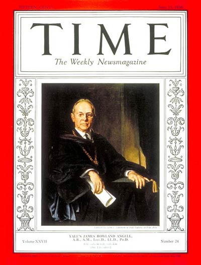 TIME Magazine Cover: James R. Angell -- June 15, 1936