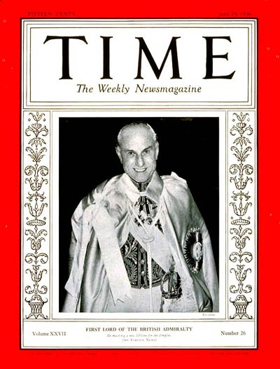 TIME Magazine Cover: Sir Samuel Hoare -- June 29, 1936