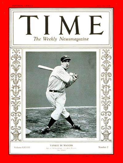 TIME Magazine Cover: Joe DiMaggio -- July 13, 1936