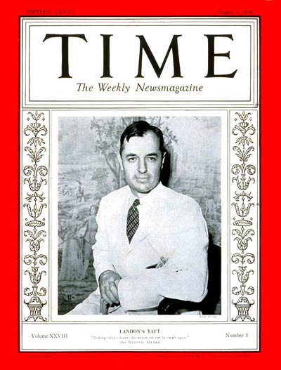 TIME Magazine Cover: Charles P. Taft -- Aug. 3, 1936