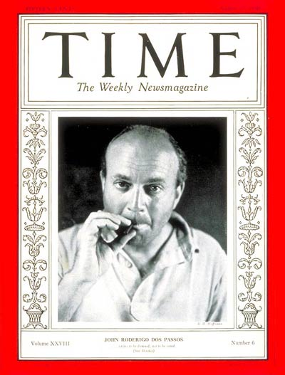 TIME Magazine Cover: John Dos Passos -- Aug. 10, 1936