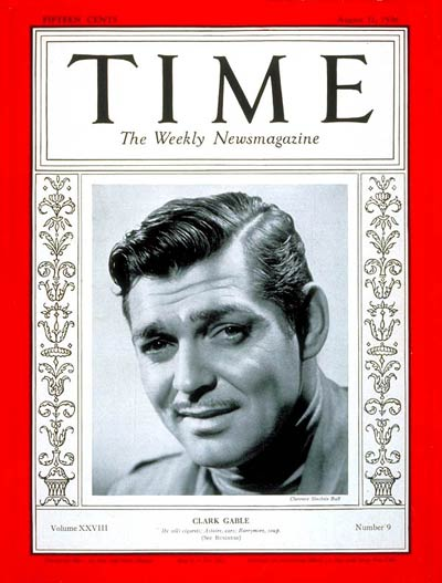 TIME Magazine Cover: Clark Gable -- Aug. 31, 1936