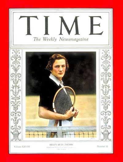 TIME Magazine Cover: Helen Hull Jacobs -- Sep. 14, 1936