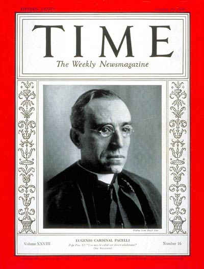 TIME Magazine Cover: Cardinal Pacelli -- Oct. 19, 1936