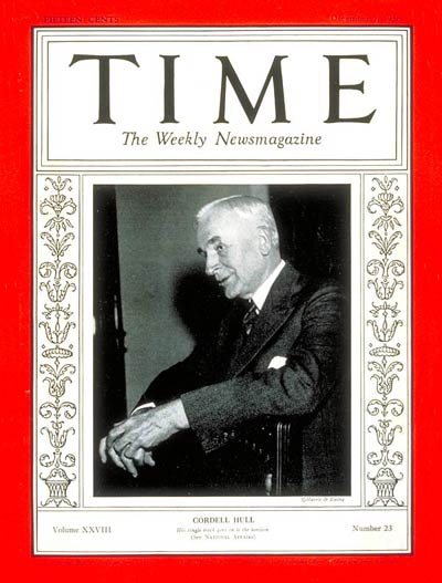 TIME Magazine Cover: Cordell Hull -- Dec. 7, 1936