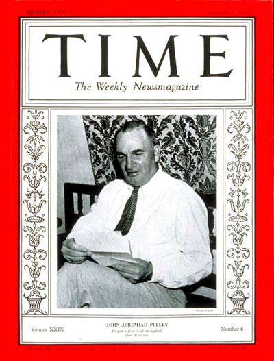 TIME Magazine Cover: John J. Pelley -- Feb. 8, 1937