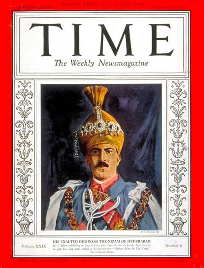 TIME Magazine Cover: The Nizam of Hyderabad -- Feb. 22, 1937