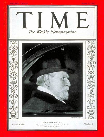 TIME Magazine Cover: Charles E. Hughes -- Mar. 1, 1937