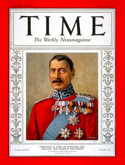 TIME Magazine Cover: King Christian X -- May 17, 1937