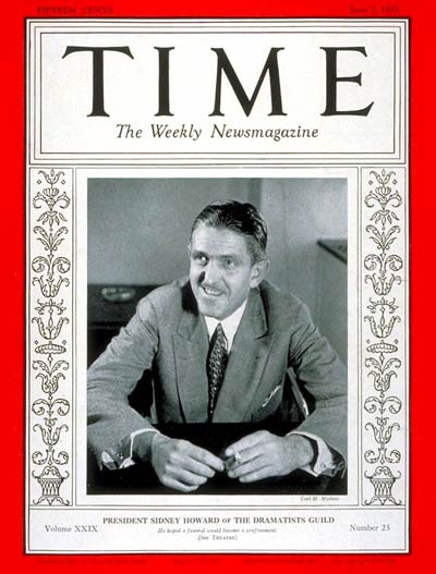 TIME Magazine Cover: Sidney Howard -- June 7, 1937