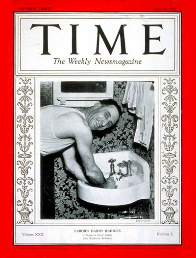 TIME Magazine Cover: Harry Bridges -- July 19, 1937