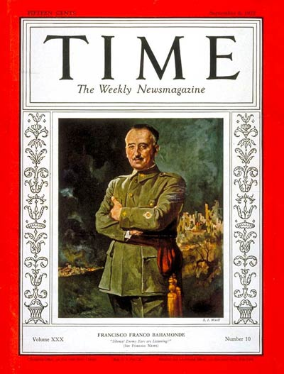 TIME Magazine Cover: Francisco Franco -- Sep. 6, 1937