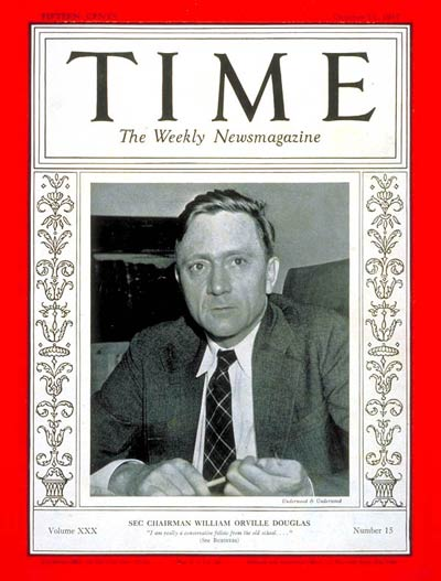 TIME Magazine Cover: William O. Douglas -- Oct. 11, 1937