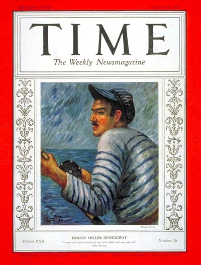 TIME Magazine Cover: Ernest Hemingway -- Oct. 18, 1937