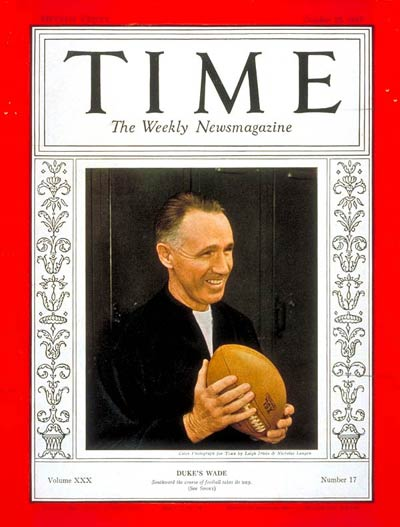 TIME Magazine Cover: Wallace Wade -- Oct. 25, 1937