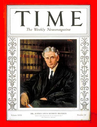 TIME Magazine Cover: Justice Brandeis -- Nov. 15, 1937