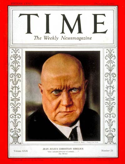 TIME Magazine Cover: Jean Sibelius -- Dec. 6, 1937