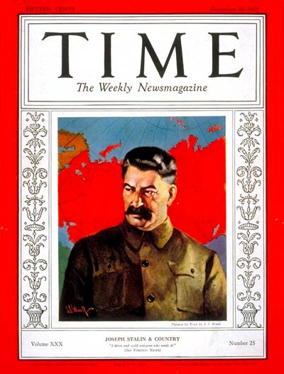 TIME Magazine Cover: Joseph Stalin -- Dec. 20, 1937