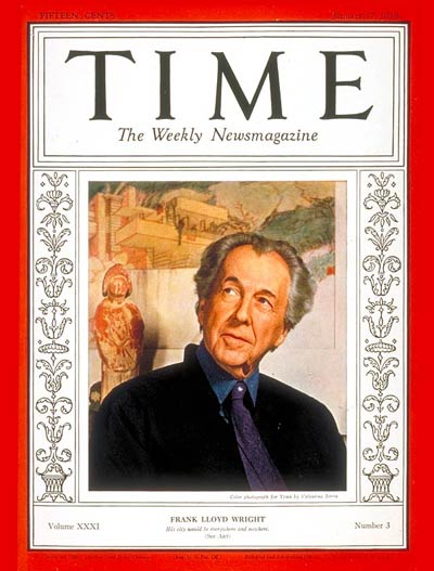 TIME Magazine Cover: Frank Lloyd Wright -- Jan. 17, 1938