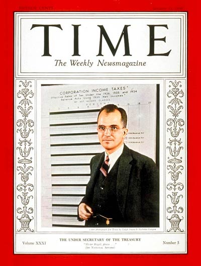 TIME Magazine Cover: Roswell Magill -- Jan. 31, 1938