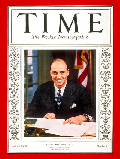 TIME Magazine Cover: James Roosevelt -- Feb. 28, 1938