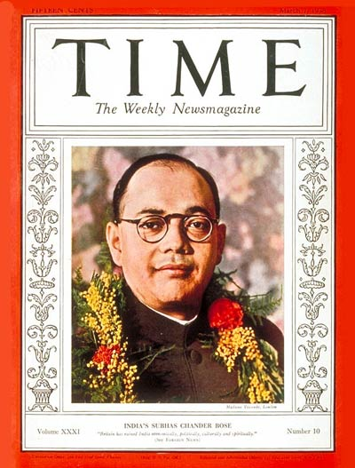 TIME Magazine Cover: Subhas C. Bose -- Mar. 7, 1938