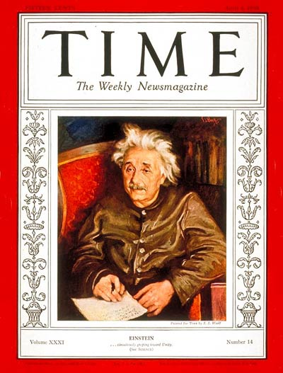 TIME Magazine Cover: Albert Einstein -- Apr. 4, 1938