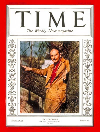 TIME Magazine Cover: Lewis Mumford -- Apr. 18, 1938