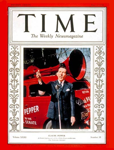 TIME Magazine Cover: Claude Pepper -- May 2, 1938