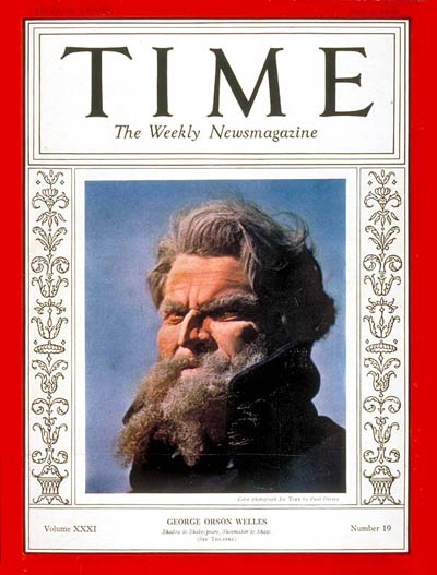 TIME Magazine Cover: Orson Welles -- May 9, 1938