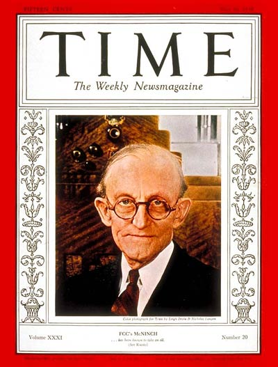 TIME Magazine Cover: Frank R. McNinch -- May 16, 1938
