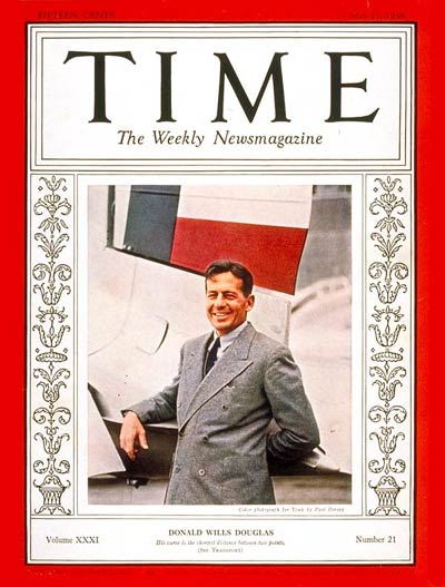 TIME Magazine Cover: Donald W. Douglas -- May 23, 1938