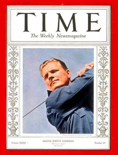TIME Magazine Cover: Johnny Goodman -- June 6, 1938