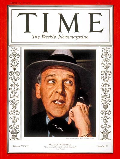 TIME Magazine Cover: Walter Winchell -- July 11, 1938
