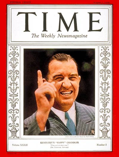 TIME Magazine Cover: Albert B. Chandler -- Aug. 1, 1938