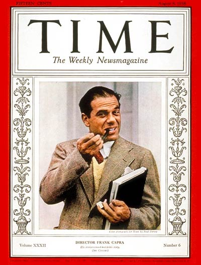TIME Magazine Cover: Frank Capra -- Aug. 8, 1938