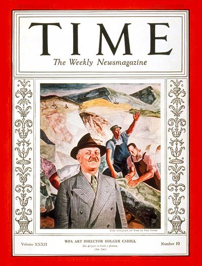 TIME Magazine Cover: Holger Cahill -- Sep. 5, 1938
