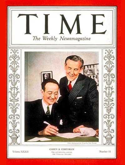 TIME Magazine Cover: Thomas Corcoran & Benjamin V. Cohen -- Sep. 12, 1938