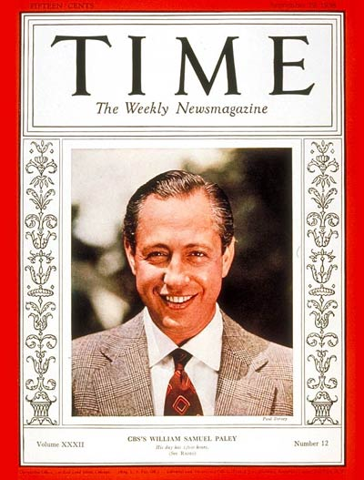 TIME Magazine Cover: William S. Paley -- Sep. 19, 1938