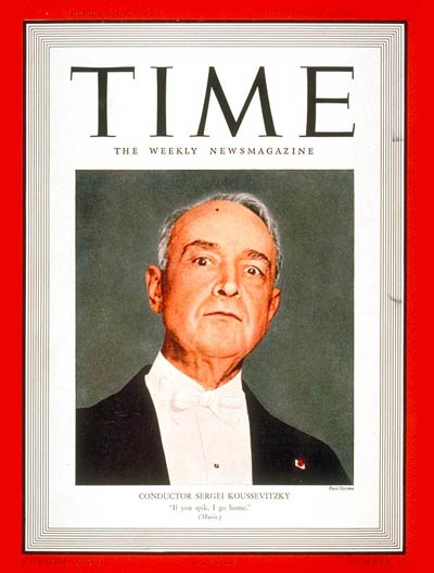TIME Magazine Cover: Sergei Koussevitzky -- Oct. 10, 1938