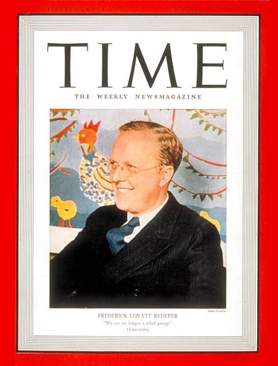 TIME Magazine Cover: Frederick L. Redefer -- Oct. 31, 1938