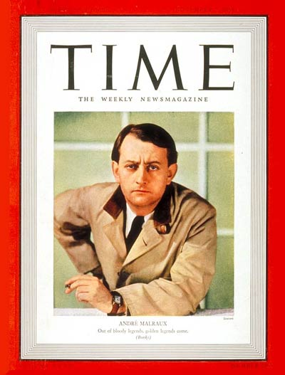 TIME Magazine Cover: André Malraux -- Nov. 7, 1938