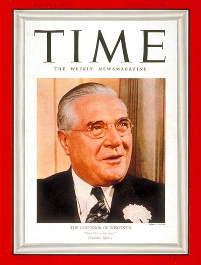 TIME Magazine Cover: Governor Julius P. Heil -- Jan. 16, 1939